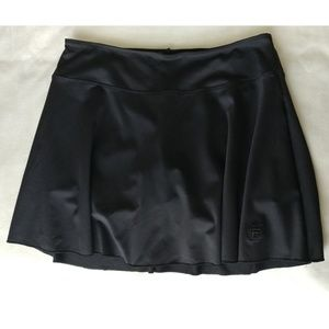 Black Fila Skort Size Large Skirt Over Shorts